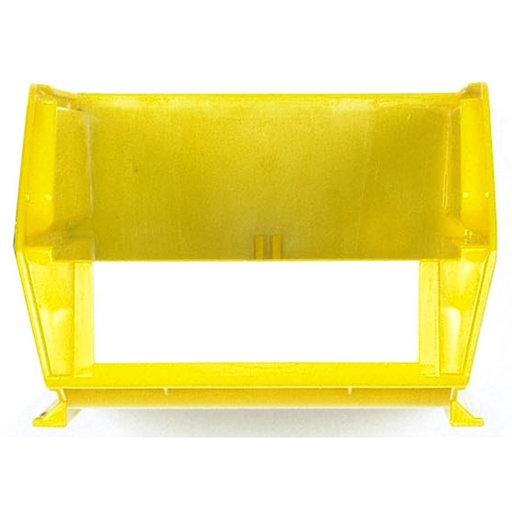"""View a Larger Image of 7-3/8"""" L x 4-1/8"""" W x 3"""" H Yellow Stacking, Hanging, Interlocking Polypropylene Bins, 6 CT"""