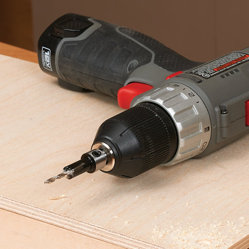 """View a Larger Image of 7/64"""" x 3/8"""" Carbide-Tipped Countersink With Brad Point Drill Bit"""