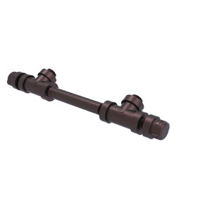 """7"""" Overall Cabinet Pull, Antique Bronze Finish"""