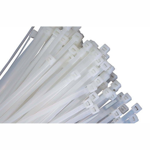 """View a Larger Image of 7"""" Long Heavy Duty Natural Nylon Ties, with 50 lb Tensile Strength, 100/pk"""
