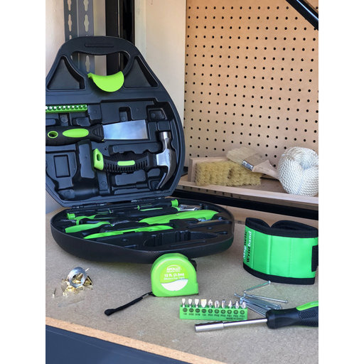 View a Larger Image of 72 Piece Household Tool Kit - Green