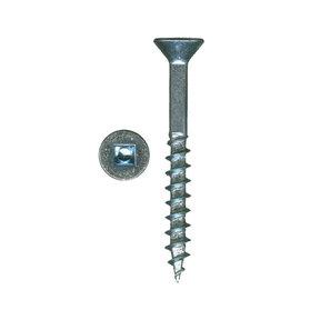 """8 x 1-1/4"""" XT Square Drive Woodworking Screws Flat Head Clear Zinc 100 pc"""