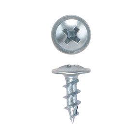 "Ball Bearing Slide Screws - #8 x 7/16"" - Round - Washer Head - Zinc - 100 Piece"