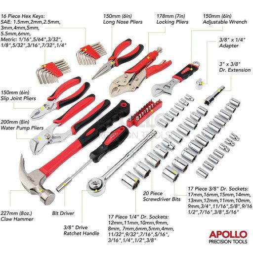 View a Larger Image of 80 Piece Mechanics Tool Kit