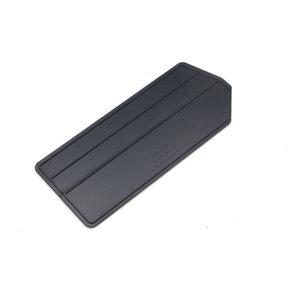 """6pk - 4-7/8""""L x 2-5/8""""W x 1/8""""H ABS Plastic Black Bin Dividers for 3-210 Bins"""