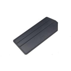 """6pk - 7""""L x 2-5/8""""W x 1/8""""H ABS Plastic Black Bin Dividers for 3-220 Bins"""