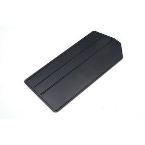 ABS Plastic Black Bin Dividers for 3-240 Bins, 6 Pack