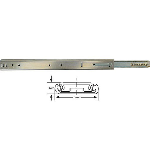 """View a Larger Image of 1029 25"""" Center Mount Drawer Slide Bright Chrome"""