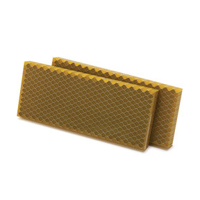 "Acrylic Honeycomb Knife Scale - 3/8"" x 2"" x 5"" -  Yellow - 2 Piece"