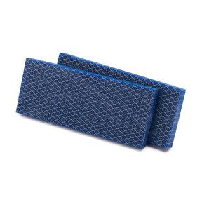 "Acrylic Honeycomb Knife Scale - Blue - 3/8"" x 2"" x 5"" - 2 Piece"