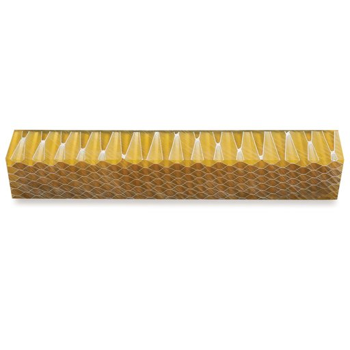 View a Larger Image of Acrylic Honeycomb Pen Blank - Yellow