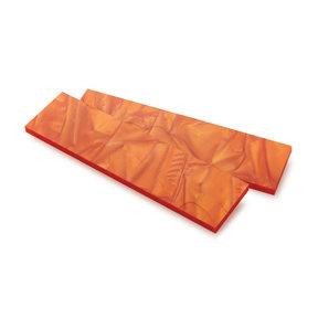 "Acrylic Knife Scale - 15/64"" x 1-1/2"" x 6"" - Atomic Orange"