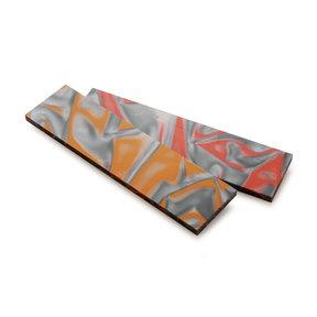 "Acrylic Knife Scale - 15/64"" x 1-1/2"" x 6"" - Fire & Ice"
