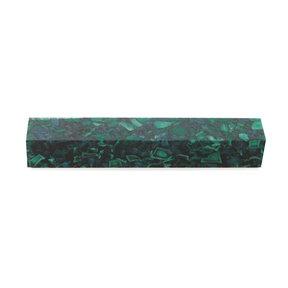 """Acrylic Pen Blank - 3/4"""" x 3/4"""" x 5"""" - Hunter Green Quartz"""