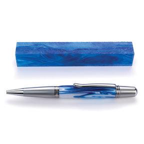 """Acrylic 3/4"""" x 3/4"""" x 5"""" Aruba Blue Turning Stock"""