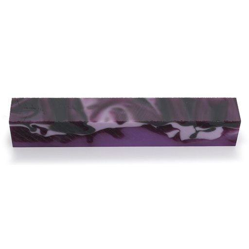 """View a Larger Image of Acrylic 3/4"""" x 3/4"""" x 5"""" Kiss of Purple Turning Stock"""