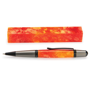 "Acrylic Pen Blank - 3/4"" x 3/4"" x 5"" - Orange Crush"