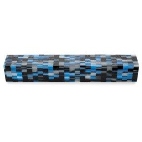 """Acrylic 3/4"""" x 3/4"""" x 5"""" Silver Rubix Turning Stock"""