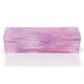 """Acrylic Turning Stock - 1-1/2"""" x 1-1/2"""" x 6"""" - Cotton Candy Clouds"""