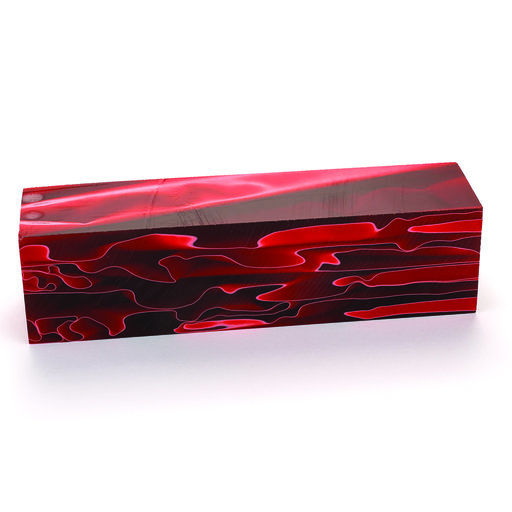 """View a Larger Image of Acrylic 1-1/2"""" x 1-1/2"""" x 6"""" Ruby Waters Clouds Turning Stock"""