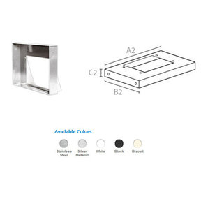 "30"" Rectangular Liner, Stainless Steel, 9106 SUS"