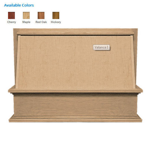 """View a Larger Image of 36"""" Classic Valance Red Oak"""