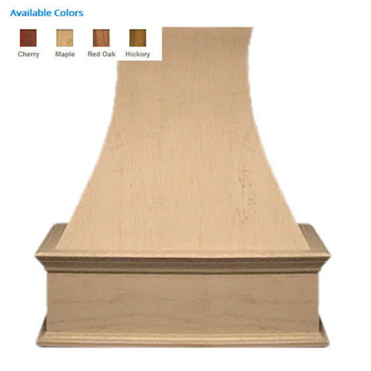 """View a Larger Image of 42"""" Decorative Curve Hickory"""