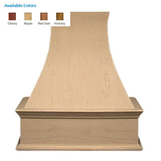 """View a Larger Image of 42"""" Decorative Curve Red Oak"""