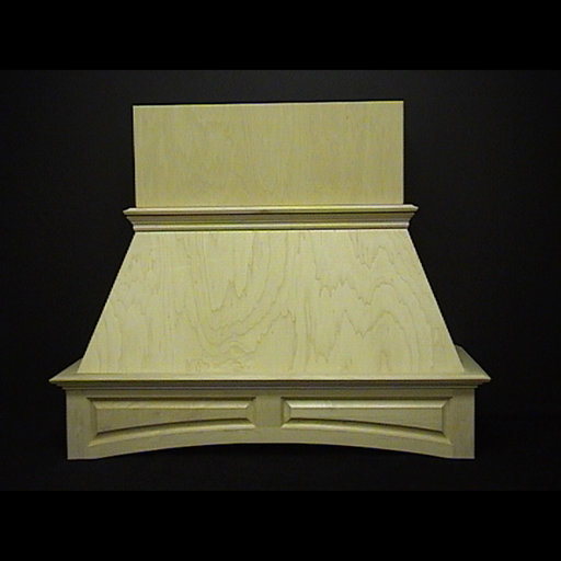 """View a Larger Image of 48"""" Arched Raised-Panel Hood, Maple"""