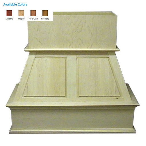 """View a Larger Image of 48"""" Upper Raised Panel Red Oak"""