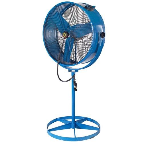 View a Larger Image of Misting Barrel Pedestal Fan
