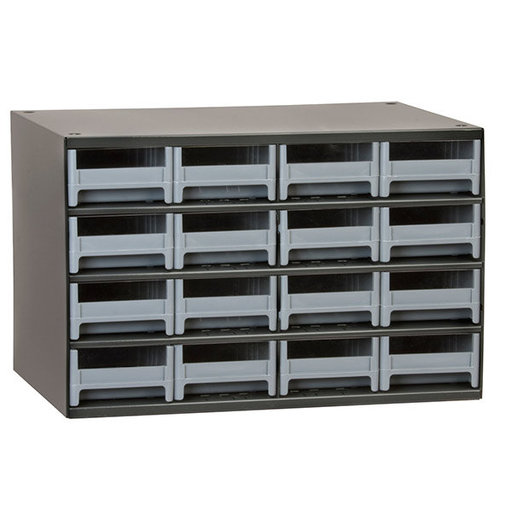 View a Larger Image of Akro-Mils 16 Drawer Steel Storage Cabinet with Gray Drawers