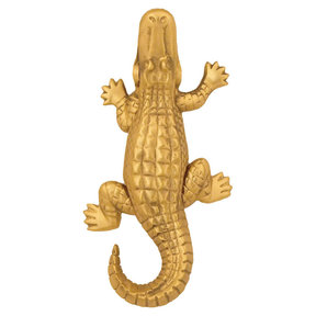Alligator Door Knocker - Brass
