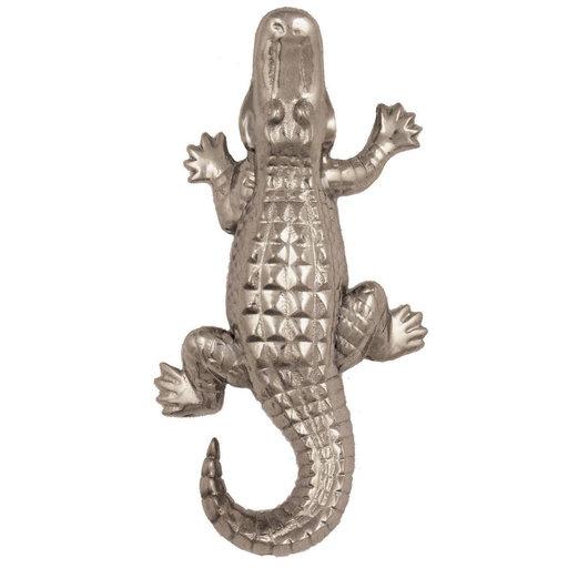 View a Larger Image of Alligator Doorbell Ringer - Nickel Silver