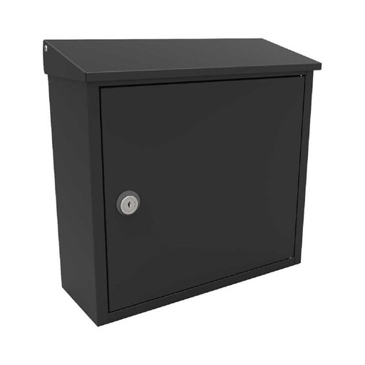 View a Larger Image of Allux 400 Top Loading Wall Mount Locking Mailbox in Black