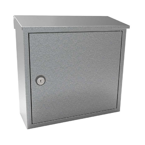 View a Larger Image of Allux 400 Top Loading Wall Mount Locking Mailbox in Galvaniz
