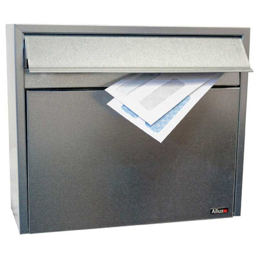 View a Larger Image of Allux Series LT150 Wall Mount Mailbox in Galvanized