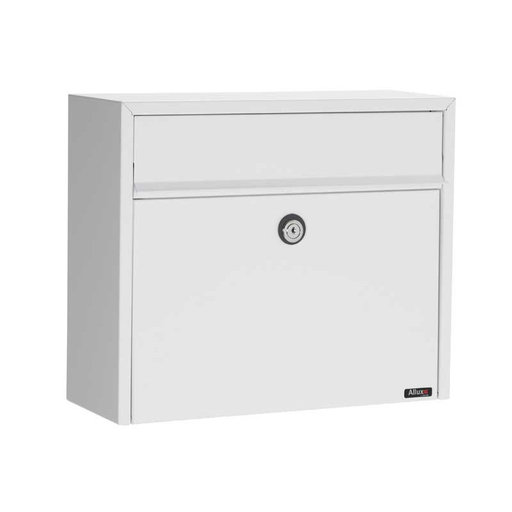 View a Larger Image of Allux Series LT150 Wall Mount Mailbox in White
