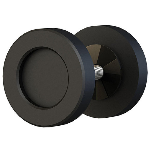"""View a Larger Image of  Black Matte 2"""" Diameter Knob for Wood or Glass Doors"""