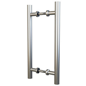 """Stainless Steel 15-3/4"""" Double Sided Pull for Wood or Glass Doors"""