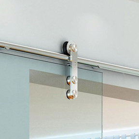 Stainless Steel -304  Grade- Decorative, Sliding-Rolling Door Hardware Kit for Double Glass Doors With Fittings  DOORS