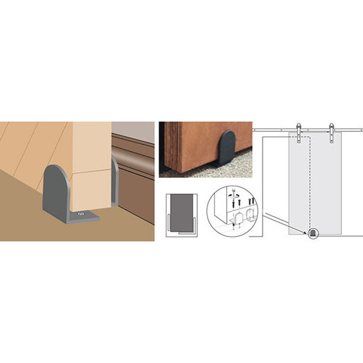 View a Larger Image of  Stainless Steel Adjustable Floor Guides For Wood Doors