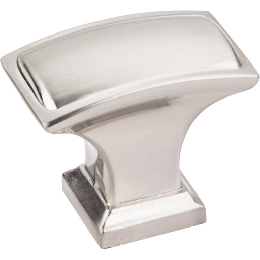 """View a Larger Image of Annadale Rectangle Pillow Top Knob, 1-1/2"""" O.L., Satin Nickel"""