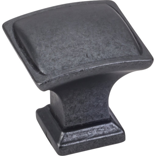"""View a Larger Image of Annadale Square Pillow Top Knob, 1-1/4"""" O.L., Gun Metal"""
