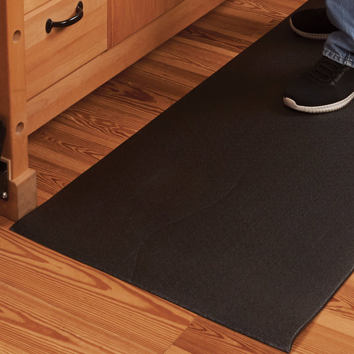 View a Larger Image of Beveled-Edge Anti-Fatigue Floor Mat - 2' x 5' - Pebble