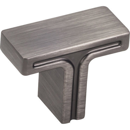 """View a Larger Image of Anwick Rectangle Knob, 1-3/8"""" O.L., Brushed Pewter"""
