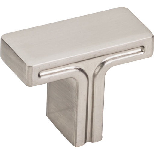 """View a Larger Image of Anwick Rectangle Knob, 1-3/8"""" O.L., Satin Nickel"""