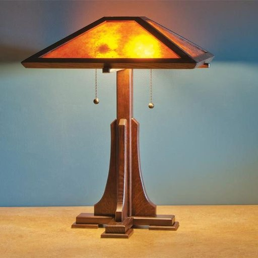 View a Larger Image of Arts and Craft Lamp - Downloadable Plan
