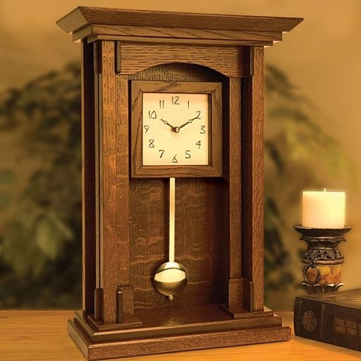 View a Larger Image of Arts and Crafts Pendulum Clock - Downloadable Plan