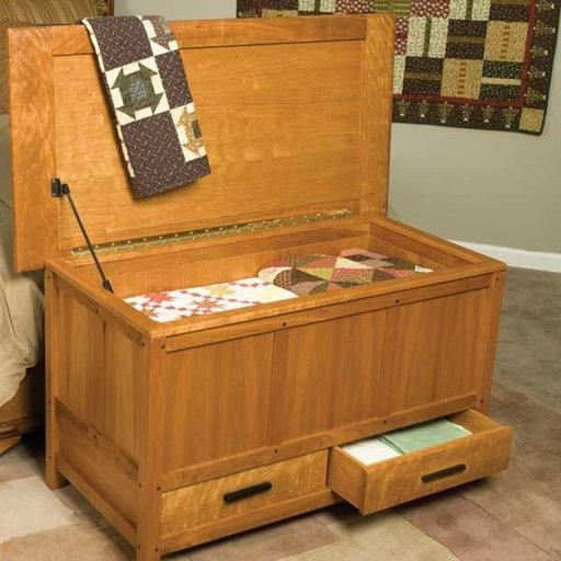 View a Larger Image of Arts & Crafts Blanket Chest - Downloadable Plan
